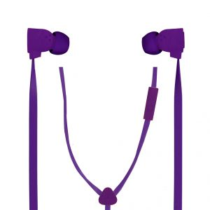 Spider Designs Funk Earphone With Mic Purple