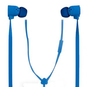 Spider Designs Funk Earphone With Mic Blue
