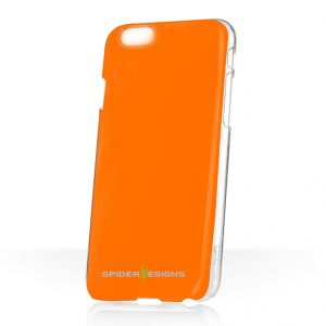 Spider Designs Stickm Anti-gravity Selfie Skin Magical Nano Sticky- iPhone 6 Orange