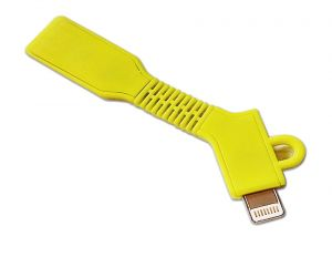 Spider Designs Key Chain Lightning Cable (i Phone) Yellow