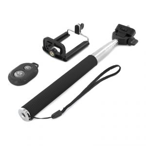 Spider Designs Monopod Selfi Stick With Zoom & Shutter Remote Black Sd-331