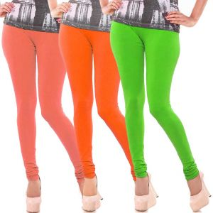 Vivan Creation Women Stylish Colorful Comfortable 3 PC Cotton Churidaar Leggings Set (product Code - Dl5comb716)