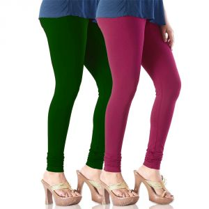Vivan Creation Stylish Comfortable N Colorful Pair Of Women Cotton Churidaar Leggings (product Code - Dl5comb740)