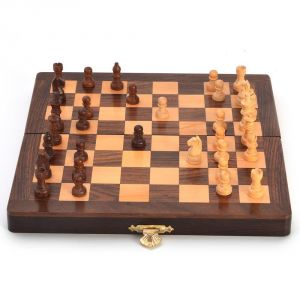 Wooden Handicrafts - Vivan Creation Designer Wooden Chess Board Handicraft Gift -115