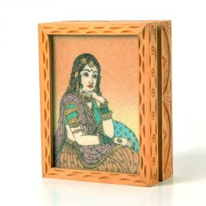 Vivan Creation Precious Gemstone Painting Jewelry Box Gift -123