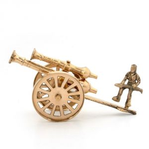 Vivan Creation Brass Rajasthani Canon Handicraft Home Decor -147