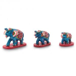 Vivan Creation Paper Mache 3 Piece Elephant Home Decor Gift -159