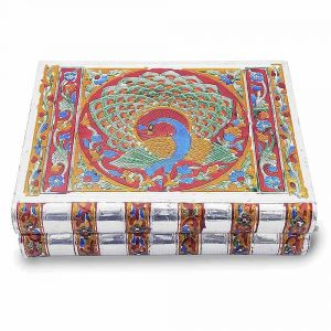 Vivan Creation Metal Colorful Meenakari Work Jewellery Box -174
