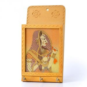 Vivan Creation Jaipuri Gemstone Painted Key N Letter Holder 214