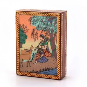 Vivan Creation Gemstone Meera Painting Wooden Jewelry Box 256
