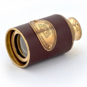 Vivan Creation Antique Real Usable Telescope In Brass And Leather