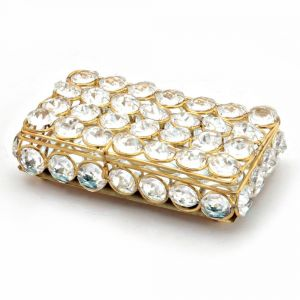Vivan Creation Traditional Unique Designer Brass Crystal Box 280