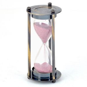 Vivan Creation Real Antique Brass Royal 3 Minute Sand Timer 281