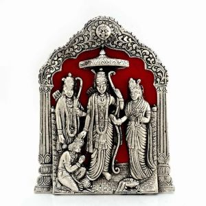 Vivan Creation Antique Lord RAM Darbar Idol In White Metal 360