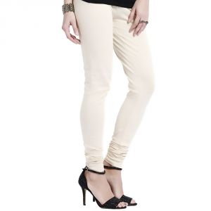 Vivan Creation Women Stylish Off White Color Comfortable Cotton Churidaar Leggings (product Code - Dli5lch201)