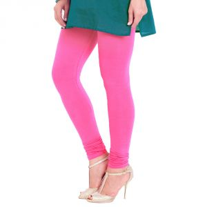 Vivan Creation Women Stylish Fancy Pink Color Comfortable Cotton Churidaar Leggings (product Code - Dli5lch204)