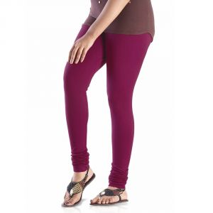 Vivan Creation Ladies Stylish Purple Color Comfortable Cotton Churidaar Leggings (product Code - Dli5lch207)