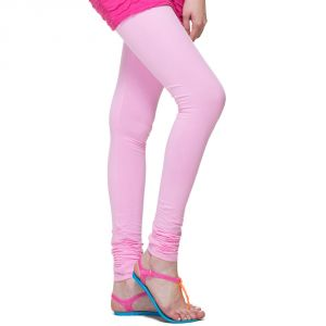 Vivan Creation Women Stylish Baby Pink Color Comfortable Cotton Churidaar Leggings (product Code - Dli5lch208)