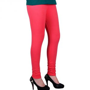 Vivan Creation Women Stylish Fancy Pink Color Comfortable Cotton Churidaar Leggings (product Code - Dli5lch209)