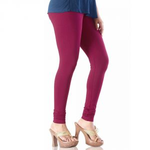 Vivan Creation Ladies Stylish Maroon Color Comfortable Cotton Churidaar Leggings (product Code - Dli5lch211)
