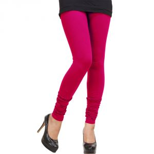 Vivan Creation Women Pretty Stylish Pink Color Comfortable Cotton Churidaar Leggings (product Code - Dli5lch212)