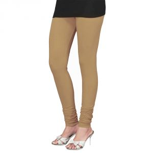 Vivan Creation Women Stylish Sexy Beige Color Comfortable Cotton Churidaar Leggings (product Code - Dli5lch215)