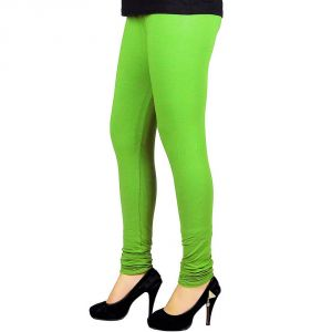 Vivan Creation Women Stylish Sexy Green Color Comfortable Cotton Churidaar Leggings (product Code - Dli5lch224)