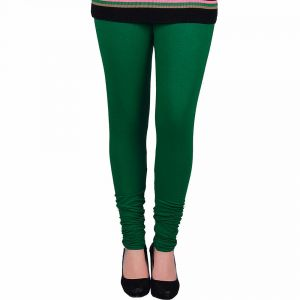 Vivan Creation Women Stylish Sexy Green Color Comfortable Cotton Churidaar Leggings (product Code - Dli5lch225)