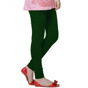 Vivan Creation Women Stylish Sexy Green Color Comfortable Cotton Churidaar Leggings (product Code - Dli5lch228)