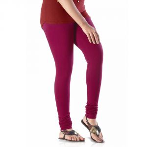 Vivan Creation Ladies Stylish Maroon Color Comfortable Cotton Churidaar Leggings (product Code - Dli5lch231)