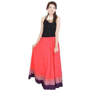 Vivan Creation Shree Mangalam Mart Full Length Red Skirt Free Size (product Code - Smskt502)