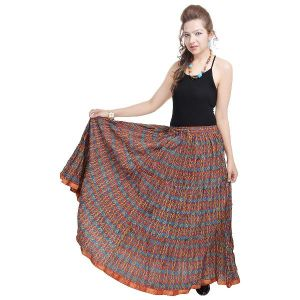 Vivan Creation Multicolor Rajasthani Designer Skirt Free Size (product Code - Smskt551)
