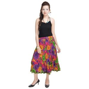 Vivan Creation Multicolor Rajasthani Designer Skirt Free Size (product Code - Smskt555)