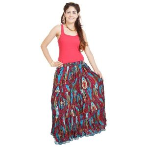 Vivan Creation Shree Mangalam Mart Ethnic Multi Floral Pure Cotton Skirt Free Size (product Code - Smskt562)