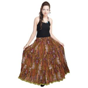 Vivan Creation Shree Mangalam Mart Ethnic Multi Floral Pure Cotton Skirt Free Size (product Code - Smskt564)