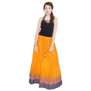 a165230e9 Vivan Creation Rajasthani Ethnic Yellow Pure Cotton Skirt Free Size  (Product Code - SMSKT601). Rs.3,059 ...