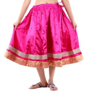 Vivan Creation Shree Mangalam Marti Short Satin Lehenga Free Size (product Code - Smskt603)