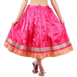Vivan Creation Shree Mangalam Marti Short Satin Lehenga Free Size (product Code - Smskt605)