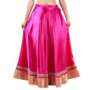 Vivan Creation Shree Mangalam Mart Traditional Satin Full Lehenga Free Size  (Product Code - SMSKT612)