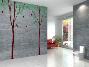Decals Arts Tree Leaf Bird Wall Sticker 3 Sheet