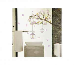 Decals Arts Bird Flower Butterfly Wall Sticker For Home And Office Dcor