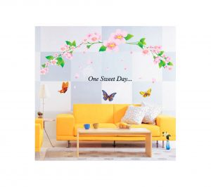 Decals Arts Flower Butterfly Fifth Generation Removable Pvc Wall Sticker