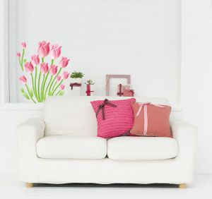 Decals Arts Tulip Wall Sticker Pink Wall Sticker
