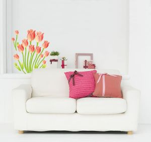 Decals Arts Tulip Wall Sticker Orange Wall Sticker