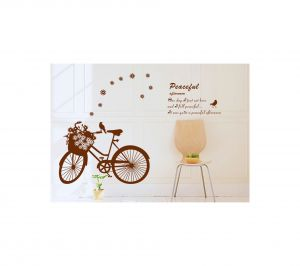 Decals Arts Peaceful Standing Bike Wall Stickers For Home Dcor