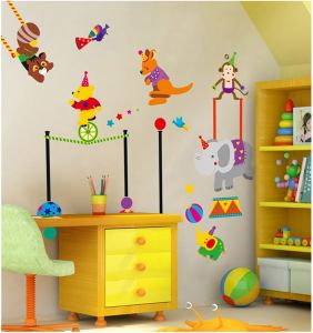 Decals Arts Third Generation Paper Cirus Cartoon Kids Wall Sticker