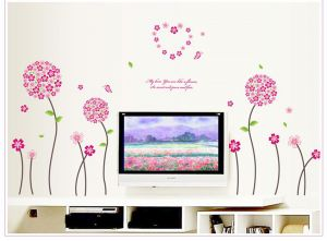 Decals Arts Beautiful Flowers Wall Sticker