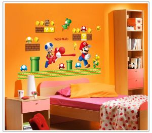 Decals Arts Super Mario Cute Wall Sticker For Kids