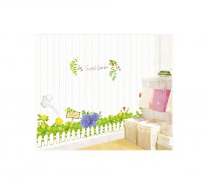 Decals Arts New Arrival Fresh Grass Skirting Line Wall Stickers