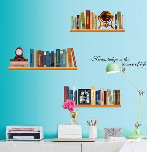 Decals Arts Personalized Simple Bookshelf Wall Decals